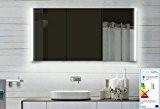 Top Design armoire de toilette avec cadre en aluminium miroir 140x70cm