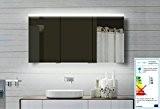 TOP Miroir design miroir armoire de toilette avec cadre en aluminium 140x70x12cm