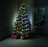 TREE DAZZLER La guirlande de Noel avec 64 Ampoules Lumineuses Télécommande Vert 180 cm - Vu à la Télé