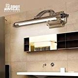 TYDXSD Américain continental miroir miroir lampe LED légère humidité toilette rouille salle de bain miroir armoire coiffeuse light lampe 660/580 ...