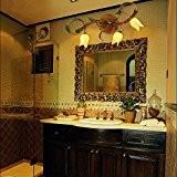 TYDXSD American retro lampe miroir lit jardin européen miroir fleurs couloir salon salle à manger chambre la créativité en lampe ...