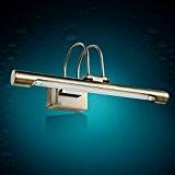 TYDXSD American retro miroir lampe led américain continental salle de bain miroir feux miroir lampe simple salle de bains éclairage ...