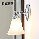 TYDXSD Double tête lampe E27 américain minimaliste moderne chambre salle de bains salle de bains miroir murale 150/340 * 250 ...