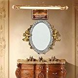 TYDXSD Lampe miroir européen Jane continental pastorale Méditerranée orientale peint rétro lampe LED salle de bain miroir feux miroir s'allume ...