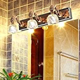 TYDXSD Miroir de salle de bains salle de bains luxe cristal du miroir coiffeuse lumières LED éclairage étanche 480 * ...