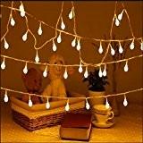 Uping Guirlande Lumineuse Boule LED 12m 100 Ampoules avec Prise EU 8 Modes de Fonctionnement Décoration Halloween/Noël/Jardin/Cérémonie Intérieur et Extérieur(Blanche ...