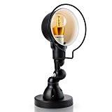 Veesee E27 rétro applique murale industrielle, lampe de lumière de mur corps réglable fer corps avec noir mat pour la ...