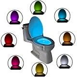 Votre ToiLight - Éclairage DEL de nuit pour les toilettes avec capteur de mouvements pour illuminer toutes les cuvettes de ...