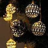 Xcellent Global Guirlandes lumineuses LED Solaire étanche Forme de lanterne métal 12 LED 2 Modes ornement de l'arbre pour l'extérieure,Jardins,Maisons, ...