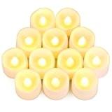 YOEEKUFlameless LED Tea Light Bougies réaliste alimenté par batterie non parfumée LED Bougies faux bougies Tealights (12 bougies)